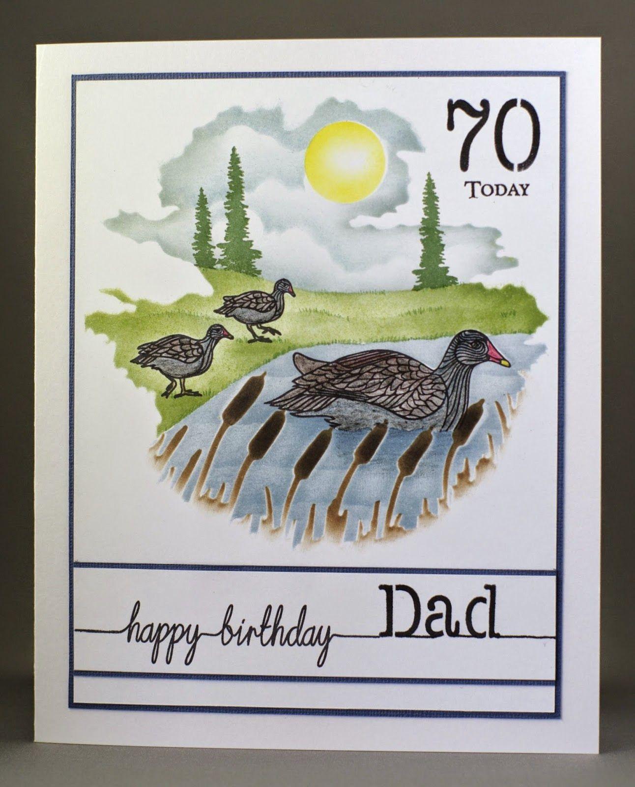 Lynne S Crafty Little Blog June 2014 70th Birthday Card Happy Fathers Day Dad Birthday Card