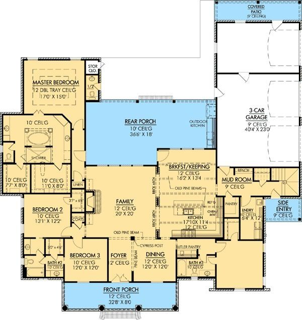 Plan W56367sm Southern Photo Gallery Corner Lot French Country European House Plans Home D Country House Plans European House Plans French Country House