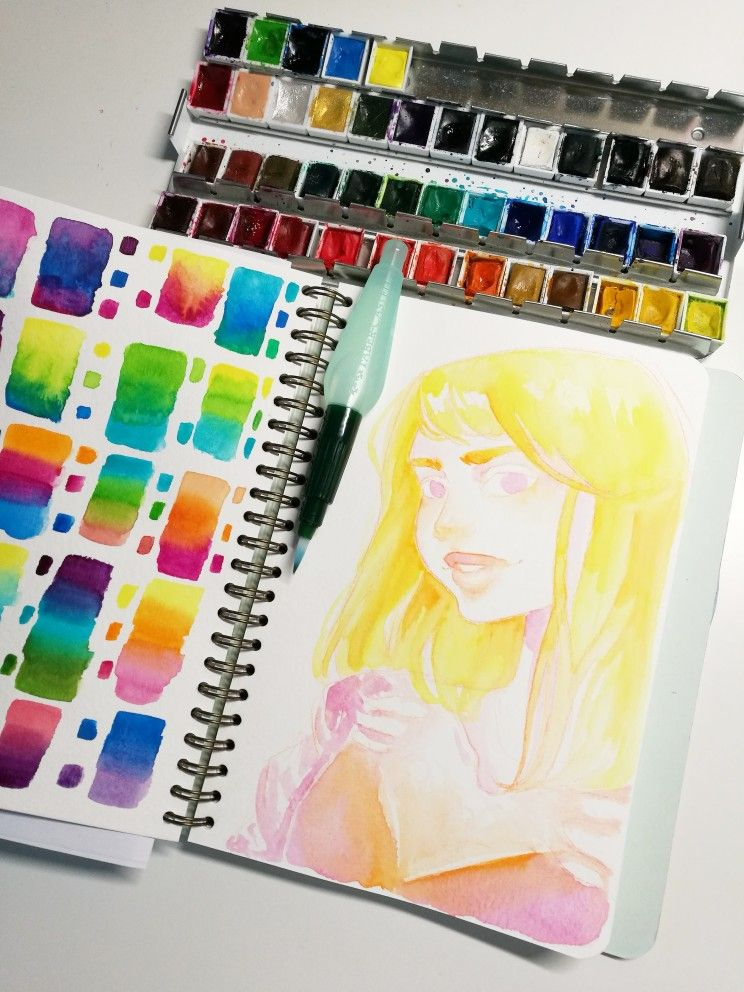 Aquarelle Watercolor Portrait Scrawlrbox Vangogh Paint