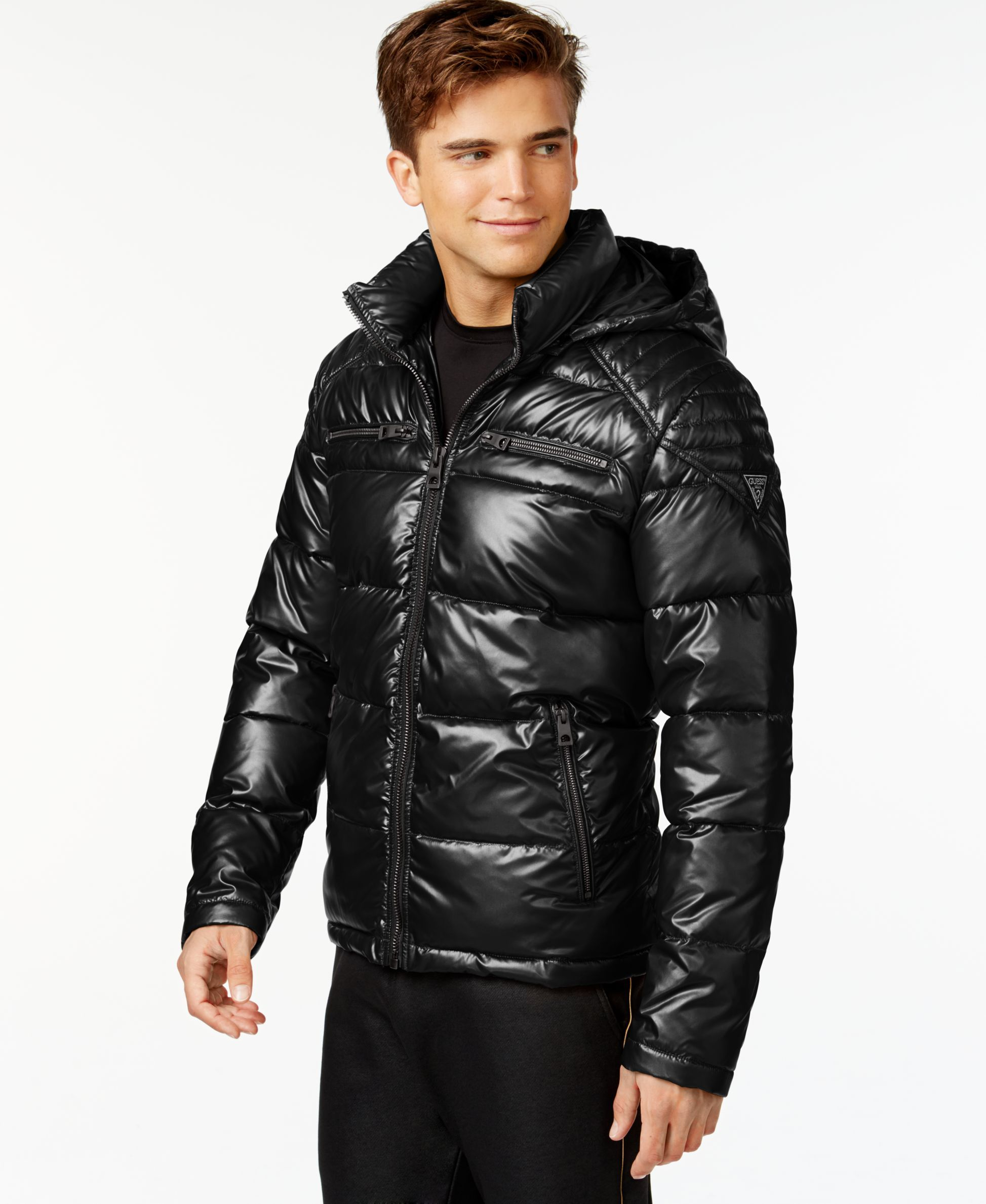 Guess Hooded Puffer Jacket Coats Jackets Men Macy S Jackets Shiny Jacket Mens Jackets [ 2378 x 1947 Pixel ]