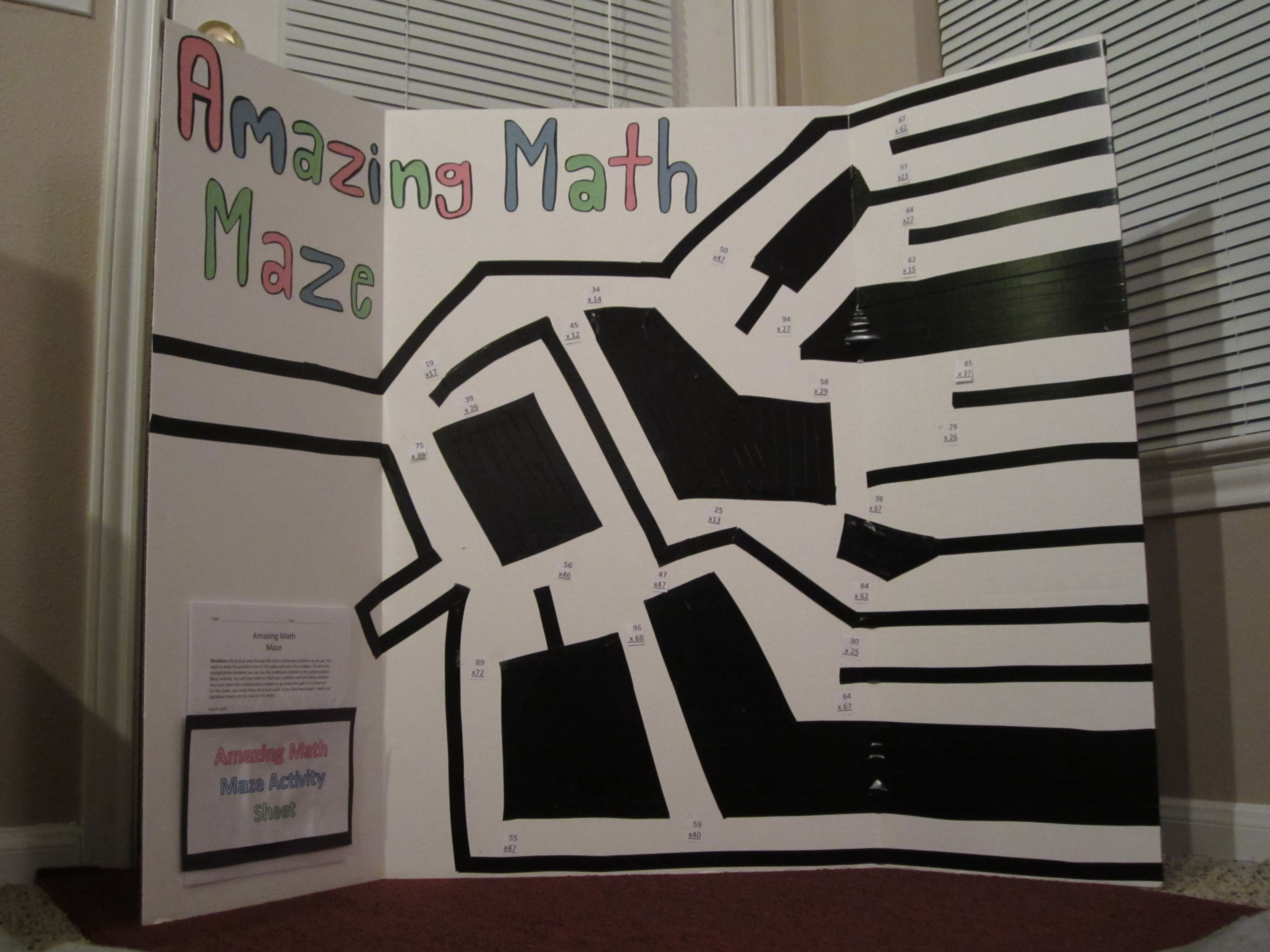 Math Maze Lots Of Exits Replace Math Facts With Anything