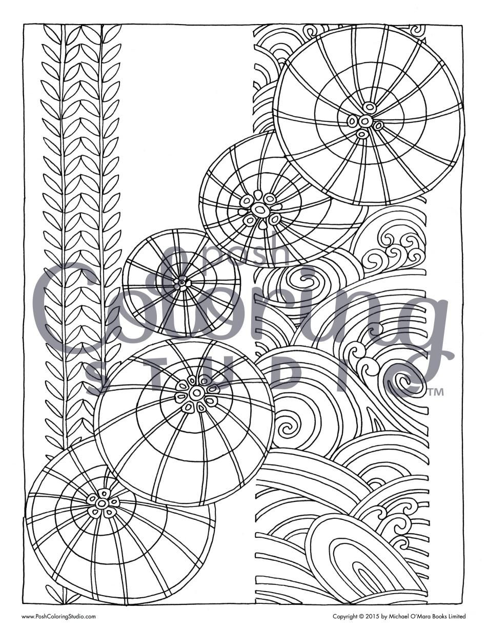 Cascading Circles Coloring Page Posh Coloring Studio Coloring Pages Circle Tapestry