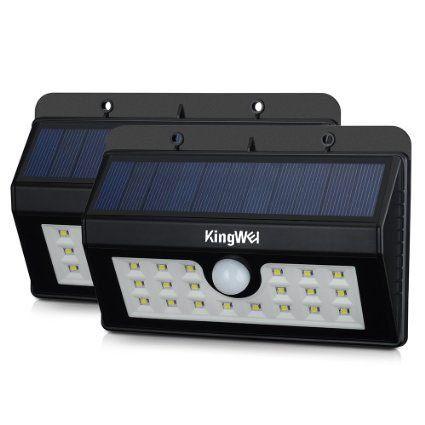 KingWel [2 Pack] 20 Lampe Solaire Jardin led sans fil, Mpow ...