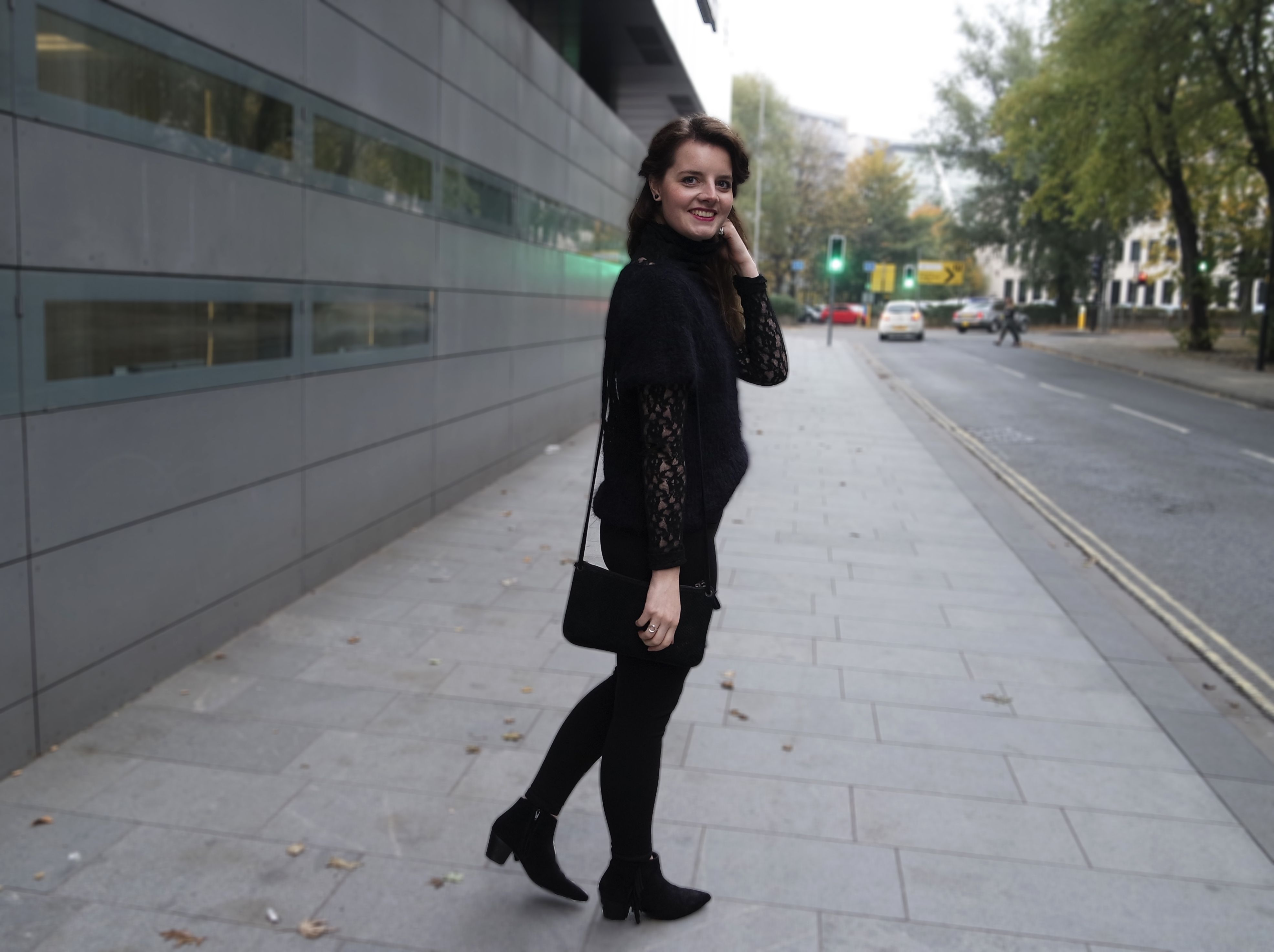 All in black outfit, Soul Made Faroe Islands knit