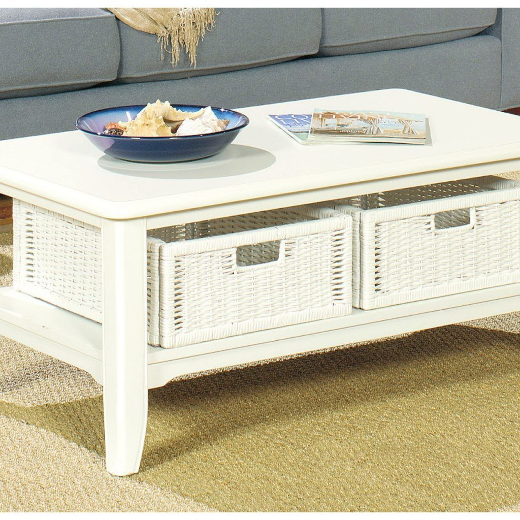 Coffee Tables With Wicker Basket Storage