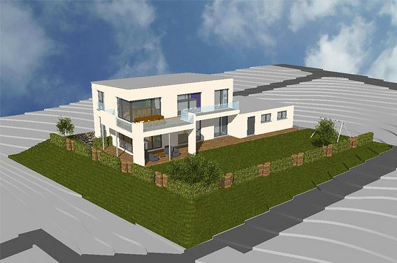 neubau eines einfamilienhauses mit flachdach und doppelgarage in ravensburg 1 h user in 2018. Black Bedroom Furniture Sets. Home Design Ideas