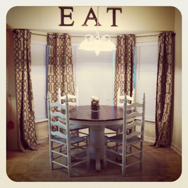 My Kitchen! DIY Curtain Rod!