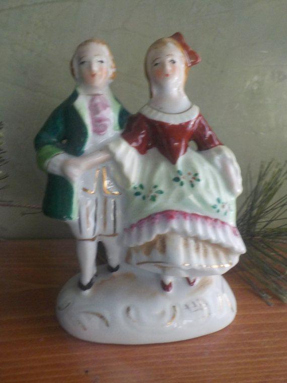 Vintage Occupied Japan Man And Lady Figurine
