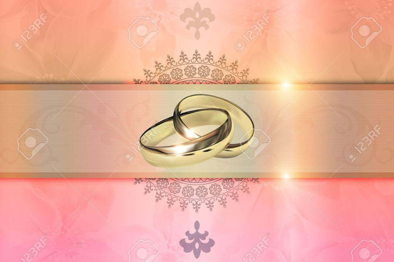 Template Of Wedding Invitation Card Decorative Wedding Floral