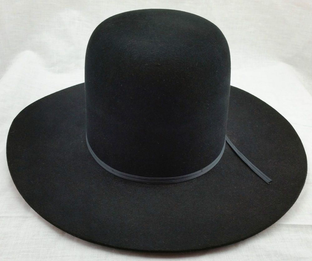 Resistol Self Conforming Cowboy Hat Long Oval 4X Beaver 007 Black 7 1 2  Unshaped  60483290006