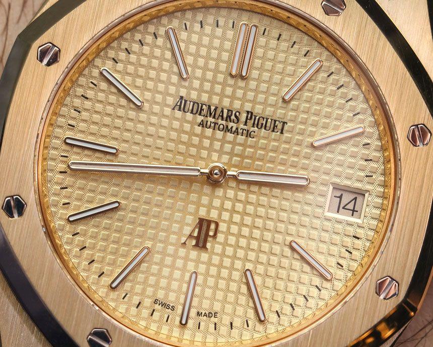 Audemars Piguet Extra Thin Jumbo Royal Oak Ref 15202 Gold Watch Hands On Gold Watch Audemars Piguet Mens Casual Watches