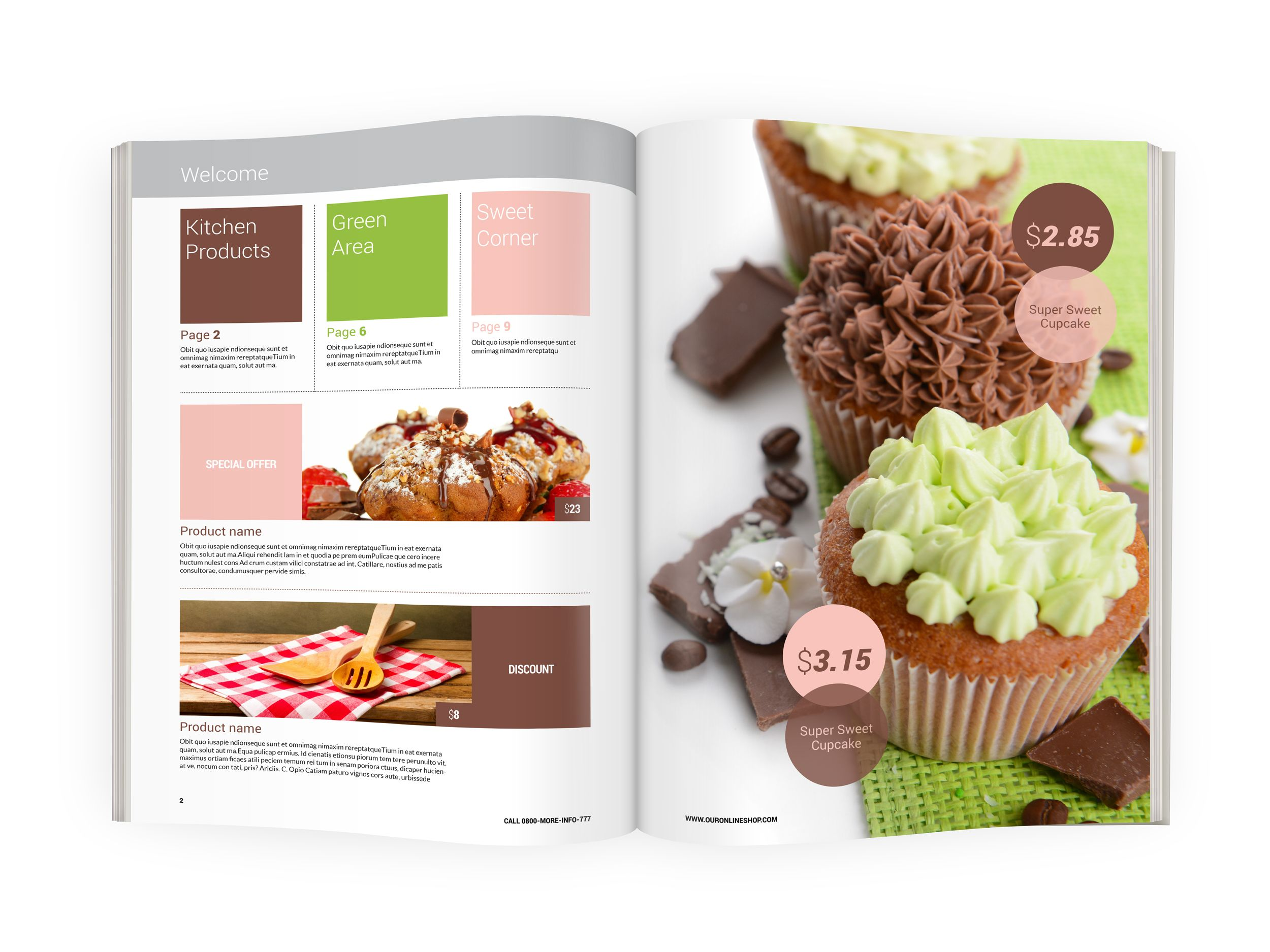 Modern Product Catalog template is InDesign file ready for easy ...