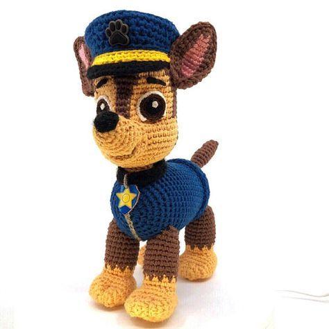 Paw Patrol crochet pattern (Chase, Zuma, Rocky, Rubble