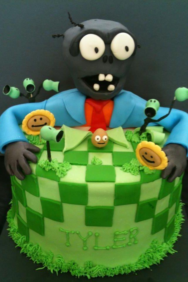 Plants Vs Zombies Cake My Creations Cake Birthday