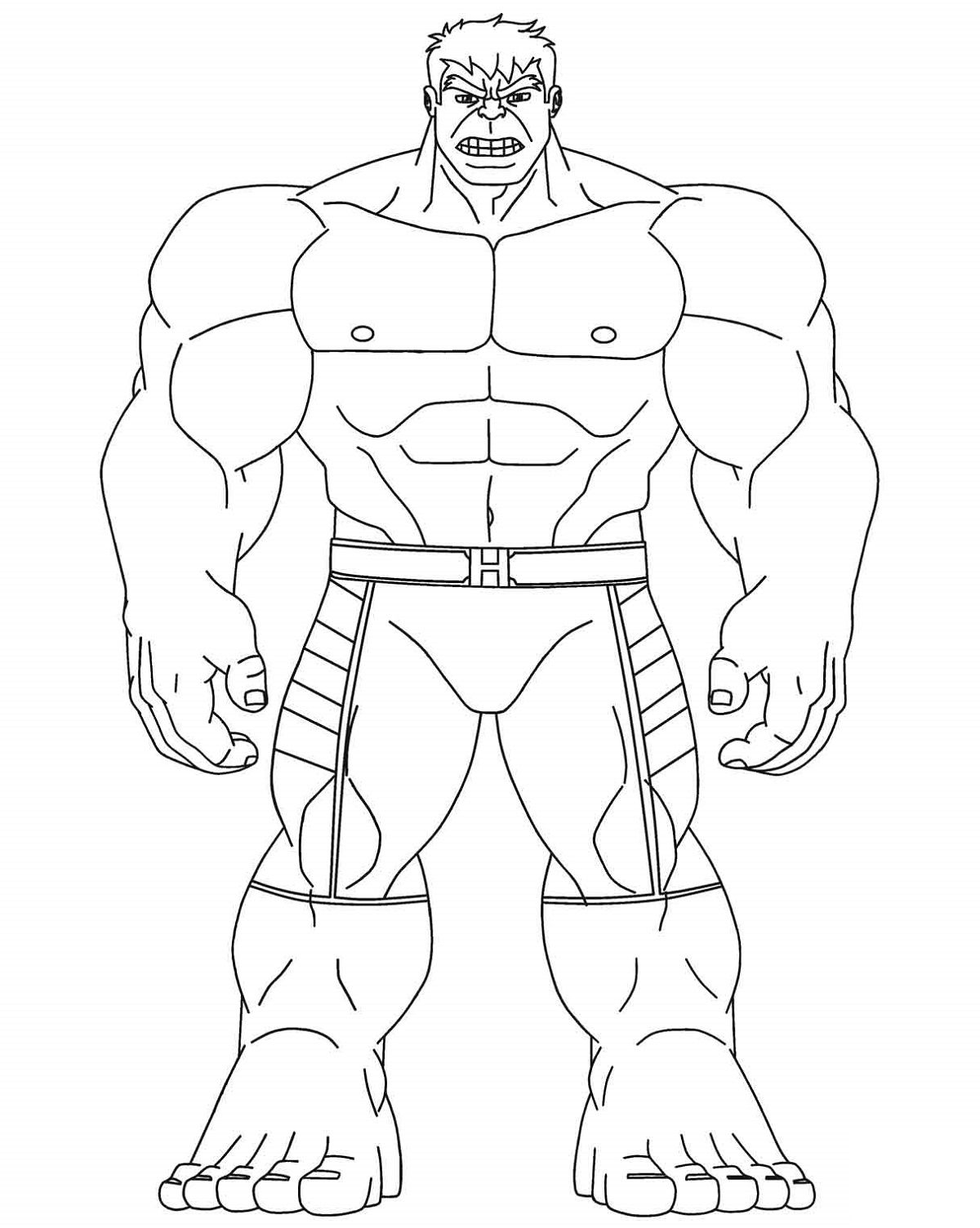 Avengers The Hulk Coloring Page Free Printable Coloring Pages Avengers Coloring Marvel Coloring Superhero Coloring Pages