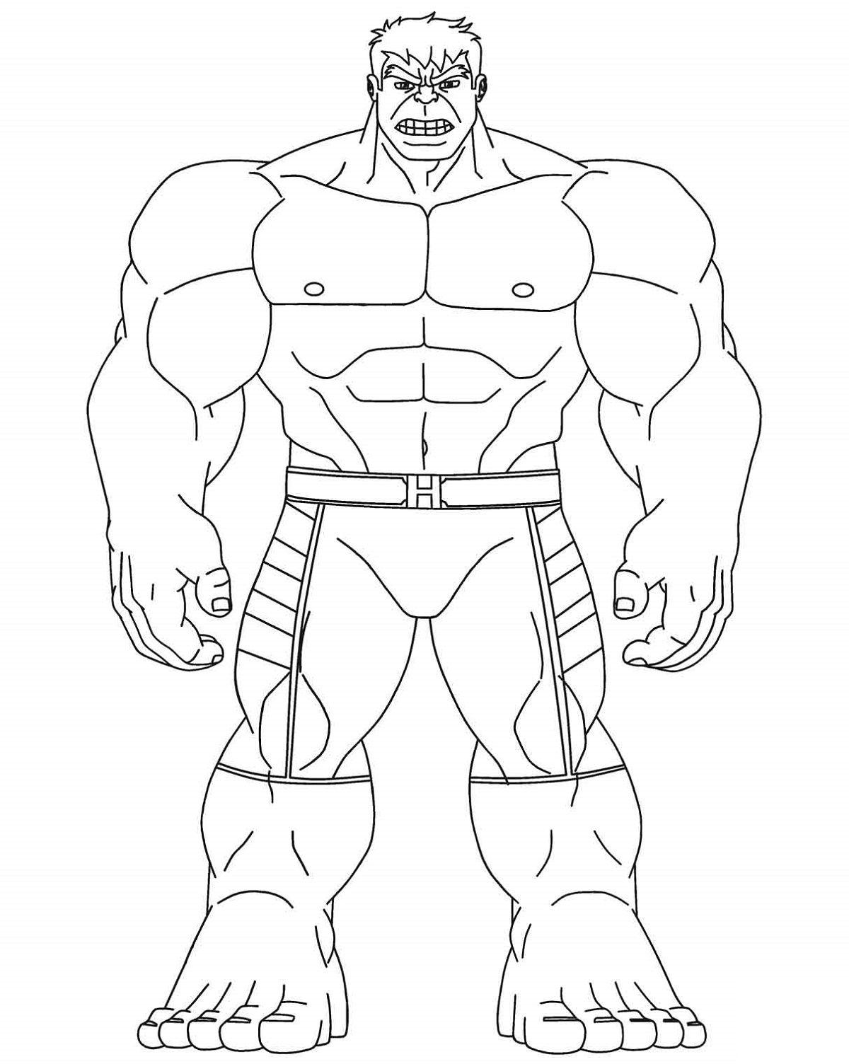 Hulk Coloring Pages Free  Printable Shelter in 9  Hulk