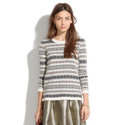 Madewell - Modern Fair Isle Sweater | les désirs | Pinterest ...
