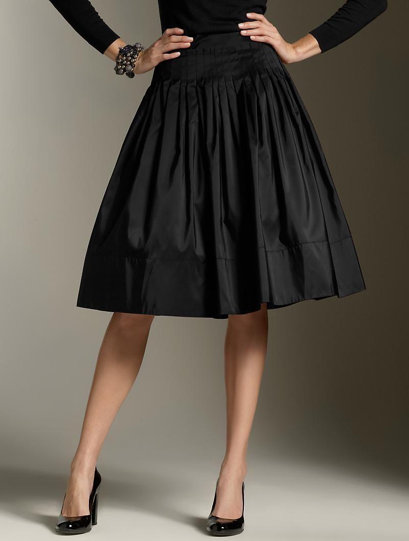 3dc54208e5c Impresionante falda negra de Talbots.