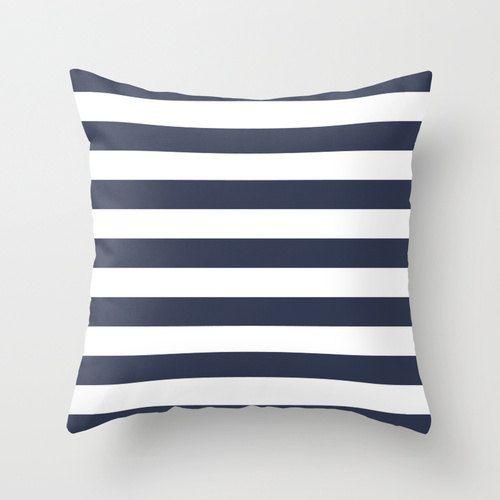 Nautical Stripes Throw Pillow