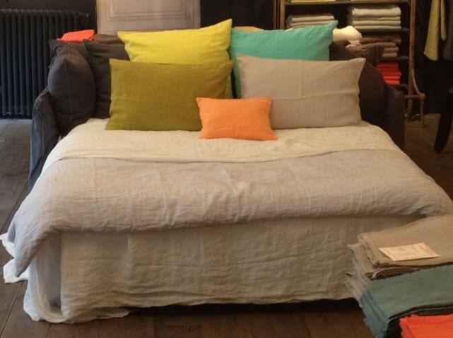 linge de lit : le lin reprend du service | linge lit, linge et le lin