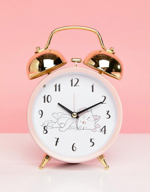 Aristocats Marie Alarm Clock Disney Decor Alarm Clock Pink Clocks