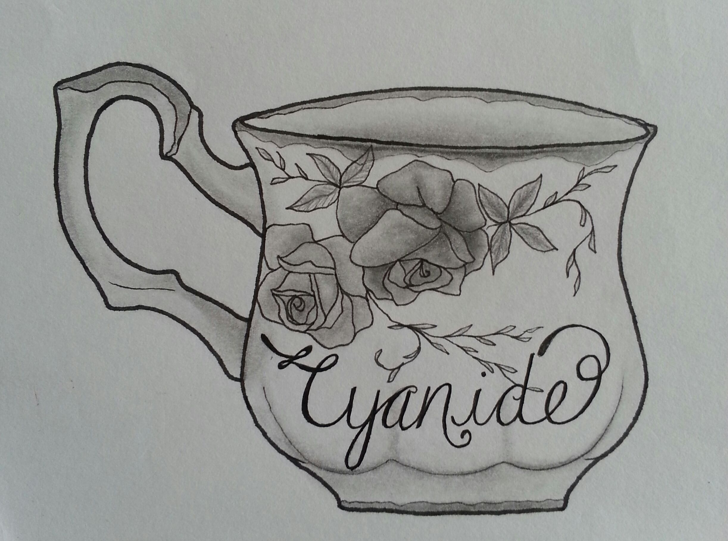 and a cute little cup of cyanide tattoo style drawing inspired by the biffy clyro song. Black Bedroom Furniture Sets. Home Design Ideas
