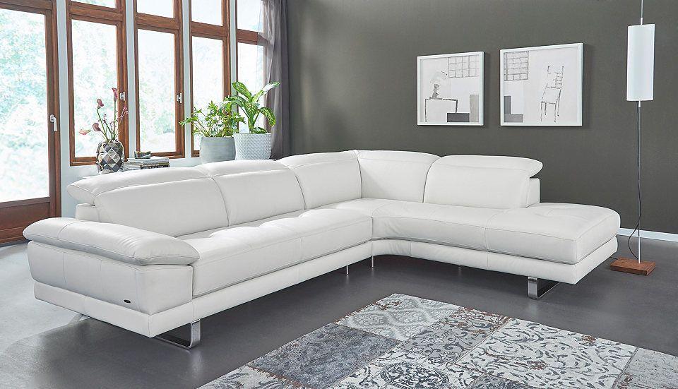 Quelle Sofa natuzzi editions leder polsterecke oronzo mit verstellbaren
