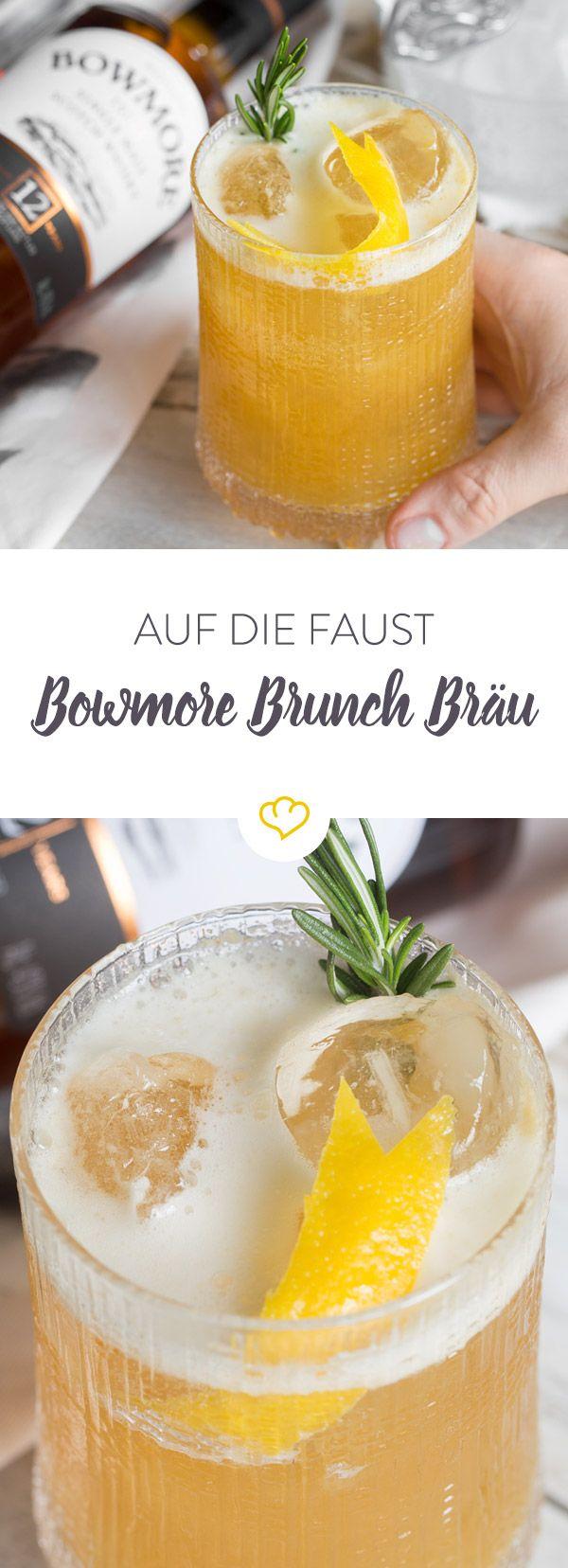 Du bist auf der Suche nach einem süffigen Brunch-Cocktail für freie Tage? Dann probiere den Bowmore Brunch Bräu!