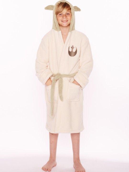 ffac025f8a Star Wars Jedi Master Yoda Cosplay Fleece Hooded Robe Bathrobe Kids ...