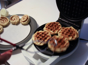 Cinnamon Roll Waffles- have to try