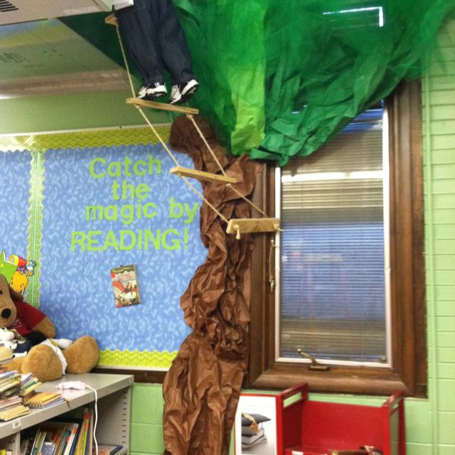 Magic Treehouse Themed Library Not Too Cool For School