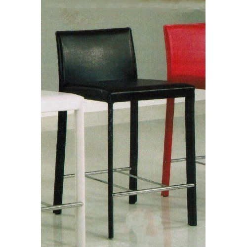 Set Of 2 24 H Counter Height Stools Chocolate Leather Like By