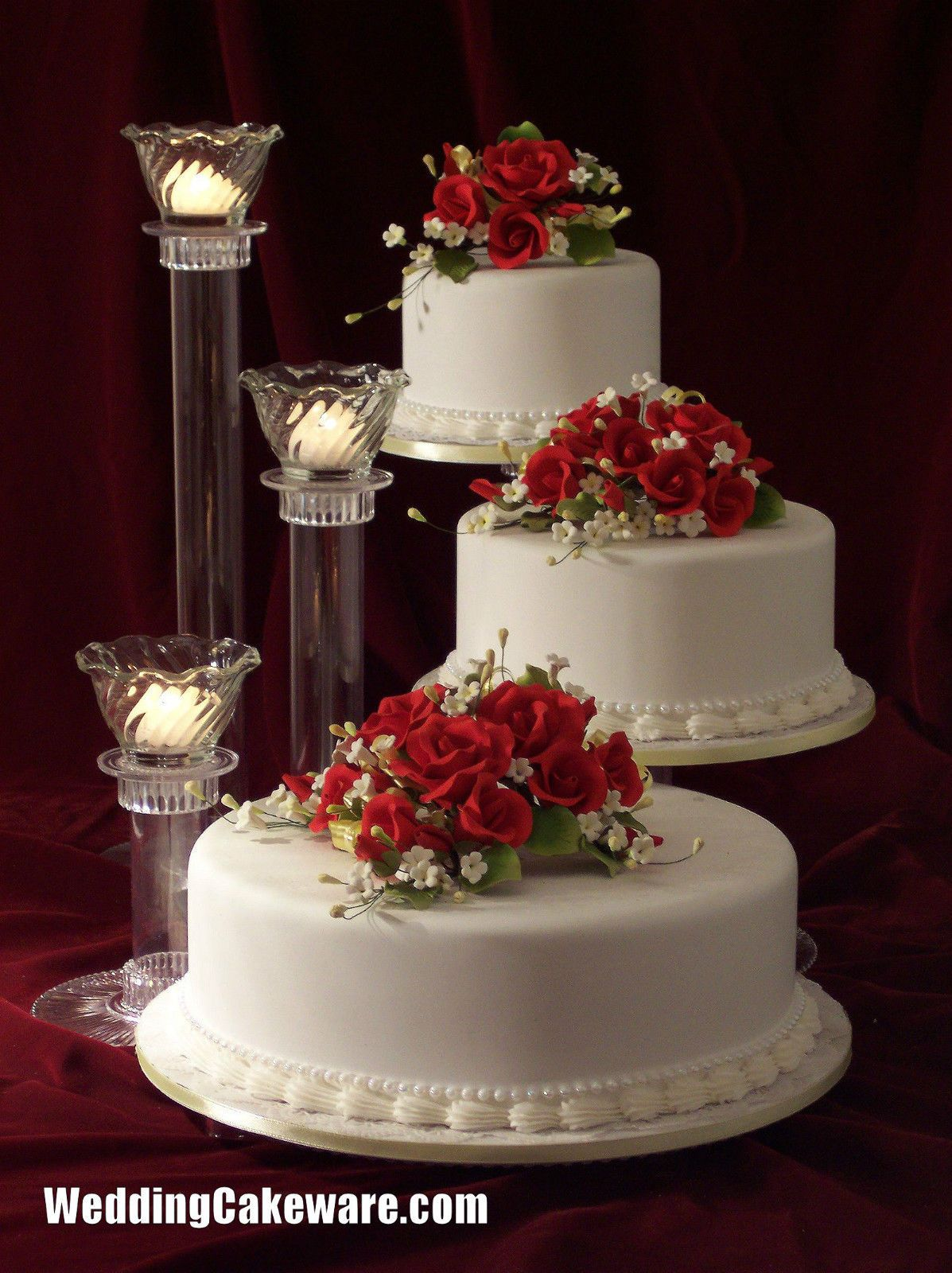 Perfect Three Tier Wedding Cake Stand With Tier Wedding
