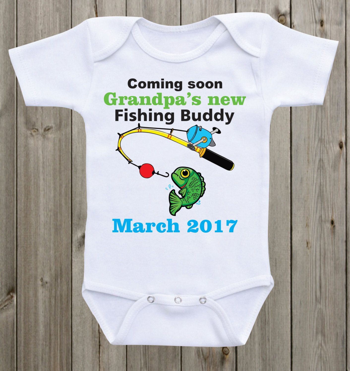 Baby shower gifr for little boy Grandpas favorite fishing partner baby oneise Pregnancy announcement to parents grandparents to be