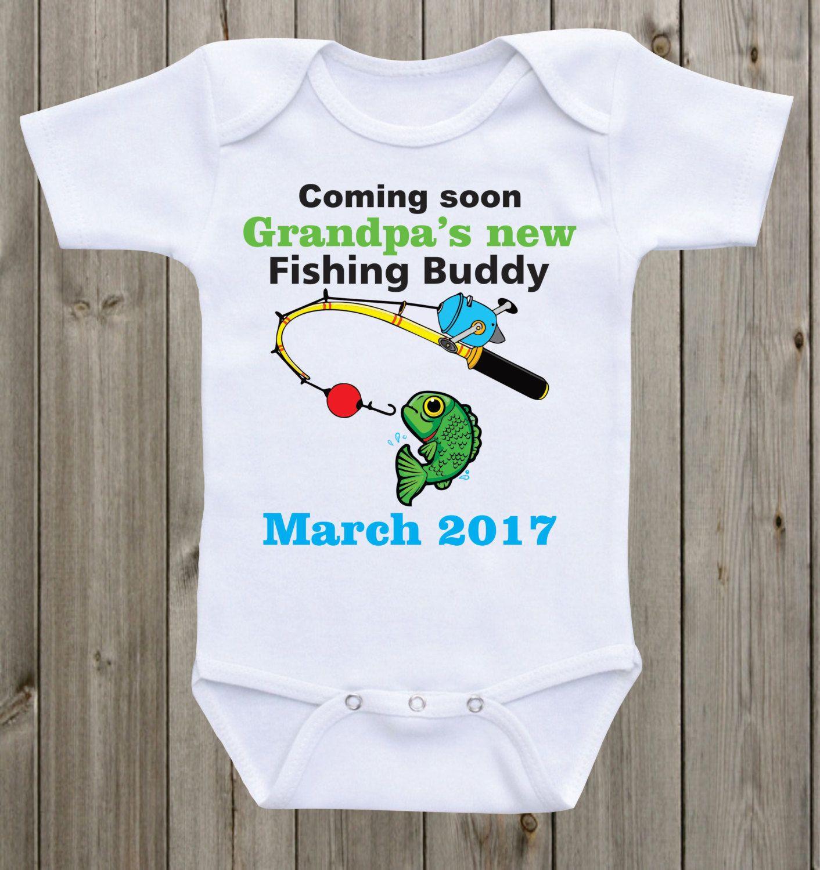 Grandpa 39 S New Fishing Buddy Pregnancy Announcement Baby