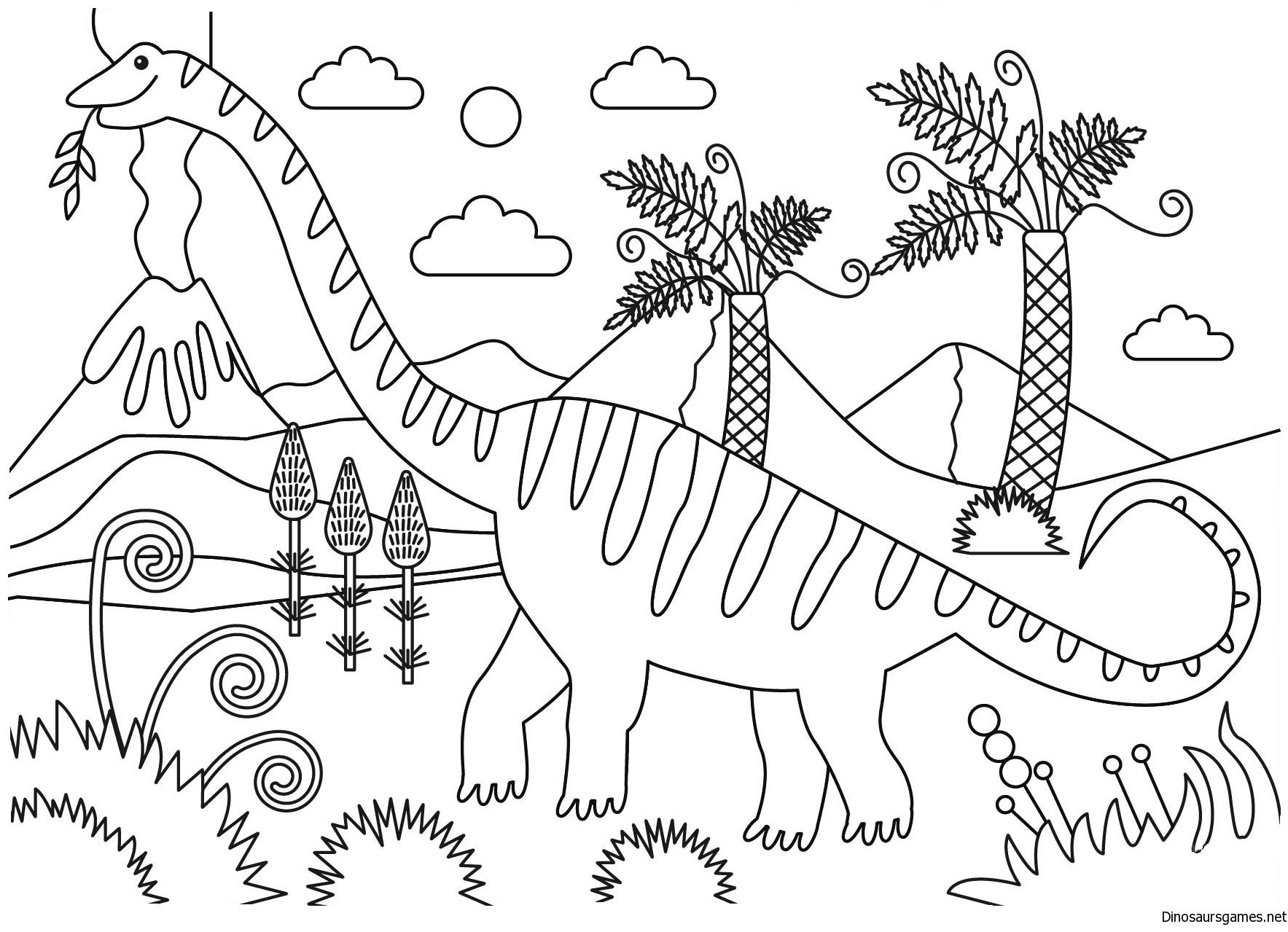 Mamenchisaurus Dinosaur Coloring Page Dinosaur Coloring Pages Coloring Pages Dinosaur Coloring