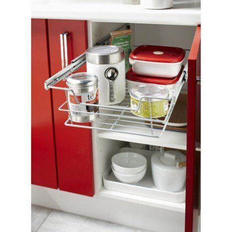 panier coulissant pour meuble de cuisine largeur 60 cm | idées de ... - Meuble Cuisine 60 Cm Largeur