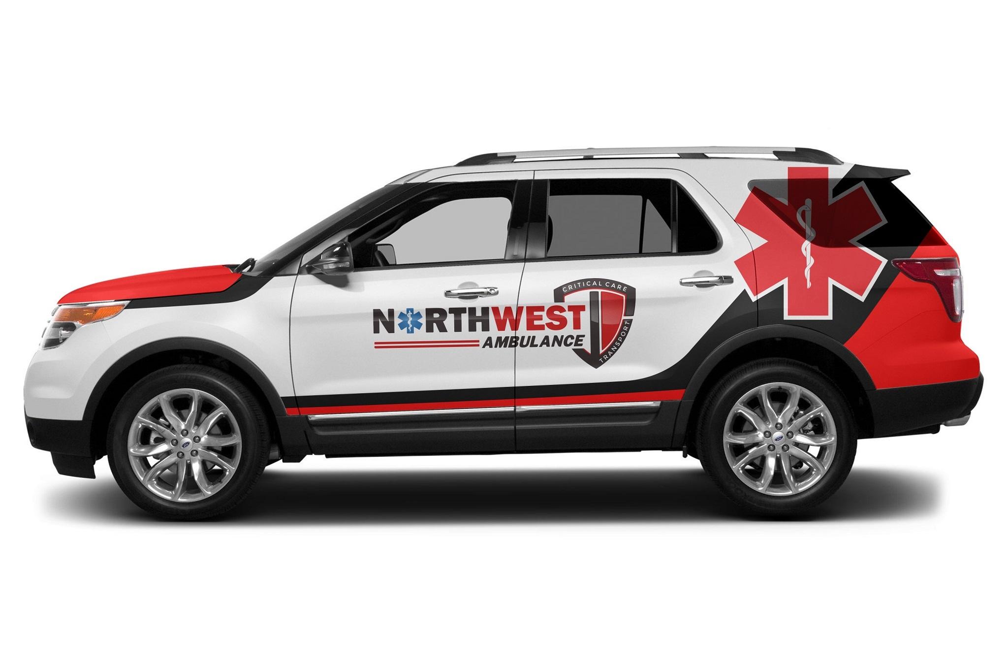 Paramedic Wrap For Northwest 99designs Car Sticker Design Car Wrap Design Truck Design [ 1351 x 2048 Pixel ]