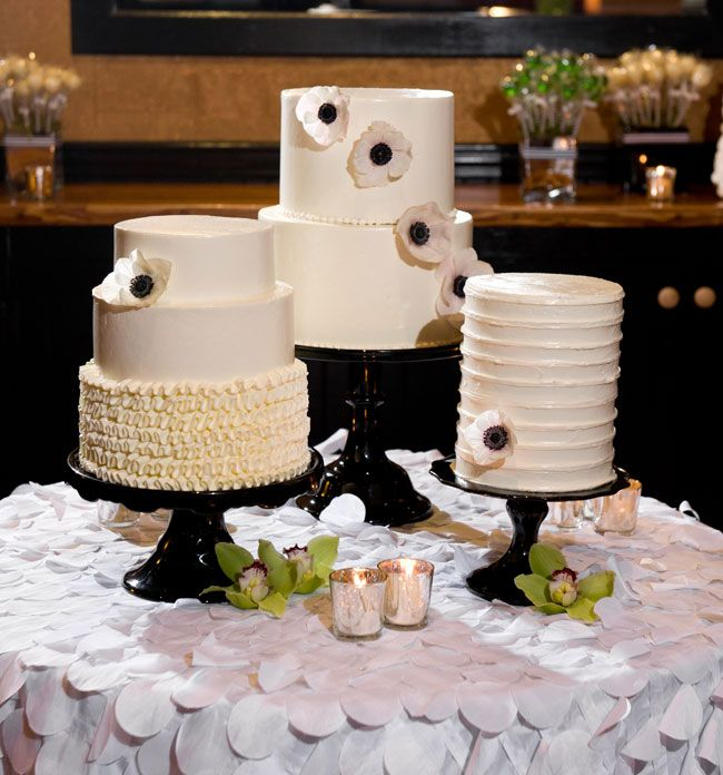 Black And White Birthday Cakes By The Bakers Table At Cork Factory