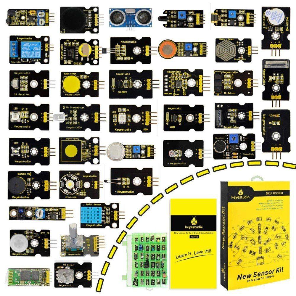New Packing Keyestudio37 In 1 Sensor Kit For Arduino Programming