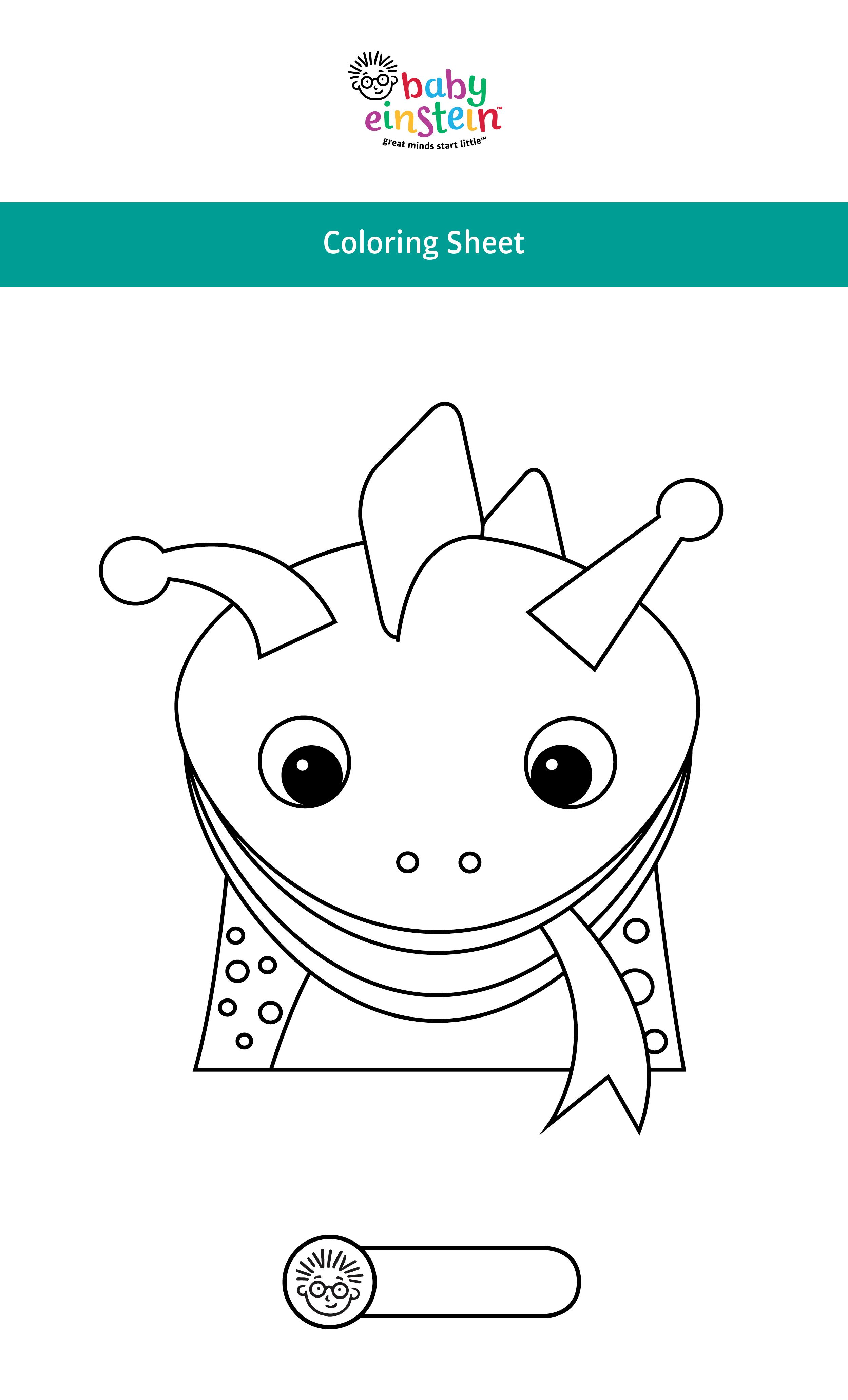 Adorable Baby Einstein coloring pages for your little one's birthday ...