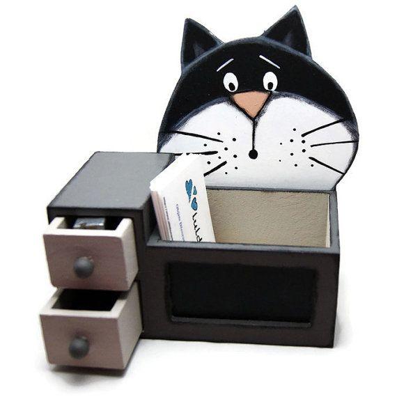 Desk Organizer With Black Cat Desk Accessories With By Luldesign Desk Organization