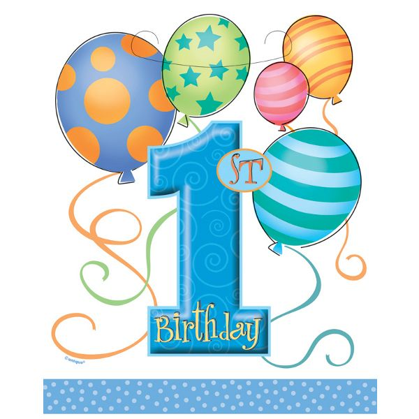 St Birthday Balloons Blue Loot Bags Ct