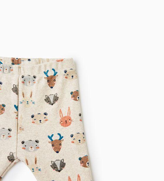Image 2 of ANIMAL FACES LEGGINGS from Zara