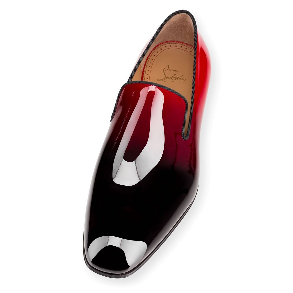 125df7be4c86 FEET  Men s Dandelion Flat loafers by Christian Louboutin. Black-to-red  dégradé patent leather.