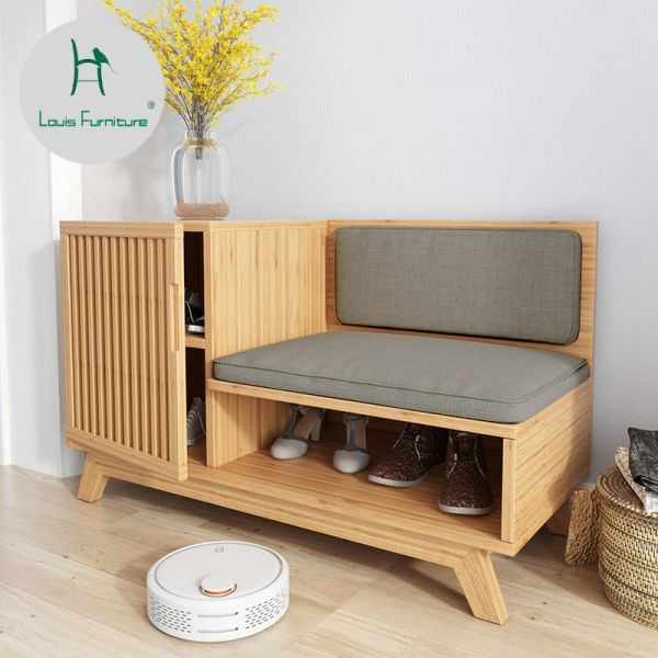 609.9US $ |Louis Fashion Shoe Cabinets Japanese Nordic Entrance Store Modern Minimalist Original Designer with Shoes and Stools| |   - AliExpress