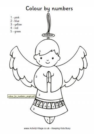 Christmas Colour By Number Angel Coloring Pages Nativity Coloring Pages Angel Posters