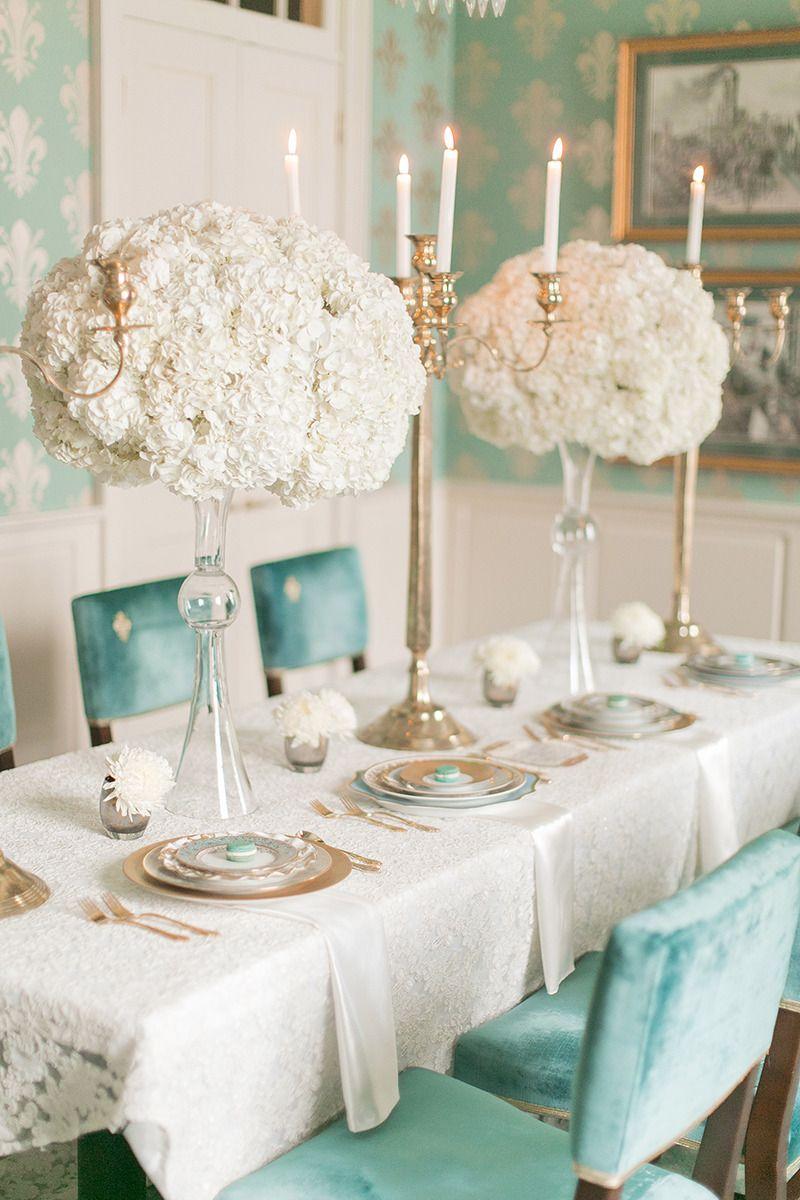 Ivory and teal french wedding ideas tiffany wedding