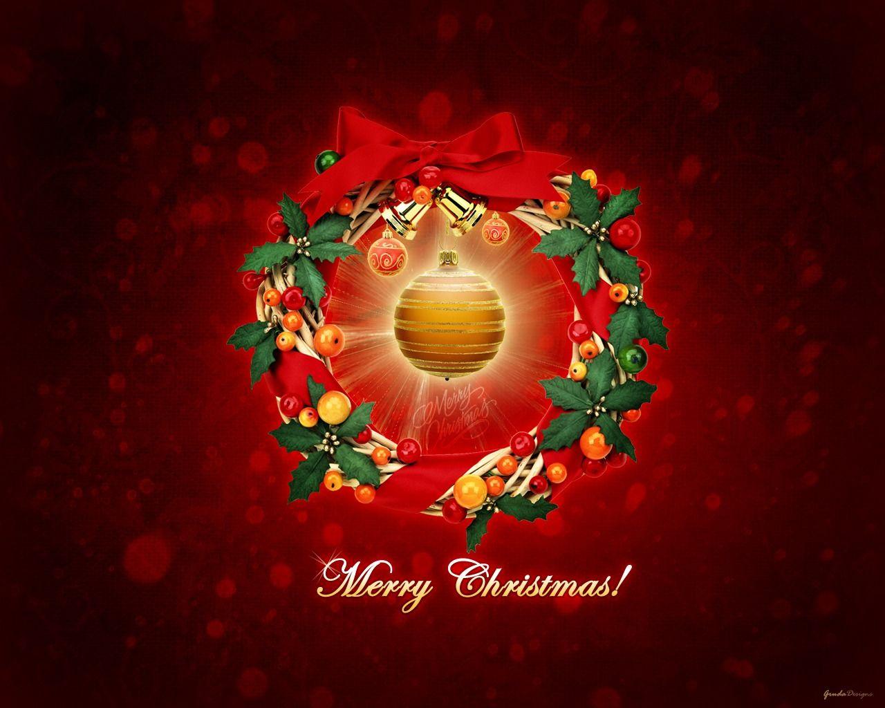 Christmas lyrics Christmas desktop wallpaper, Merry