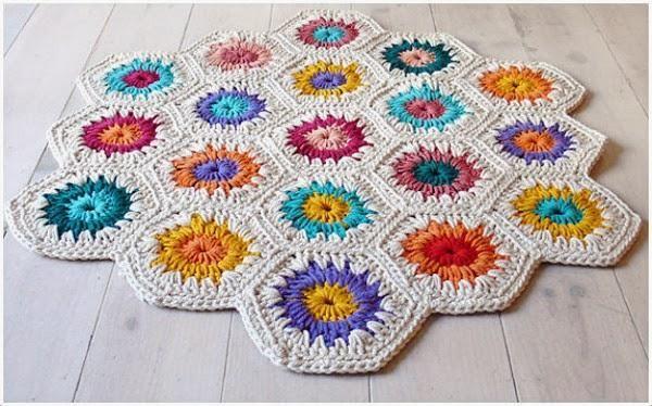 Crochet: Alfombras de trapillo uniendo muestras | Trapillo ...